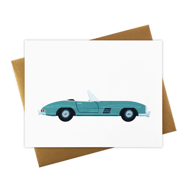 Astrid - Classic Convertible in Aqua - Blank Card