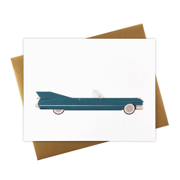 Bettina - Classic Convertible in Steel Blue - Blank Card