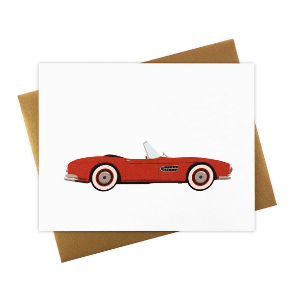 Cherry - Classic Convertible in Cherry Red - Blank Card