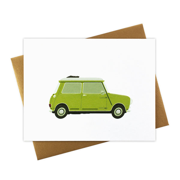 Lucy - Classic Convertible in Lime Green - Blank Card