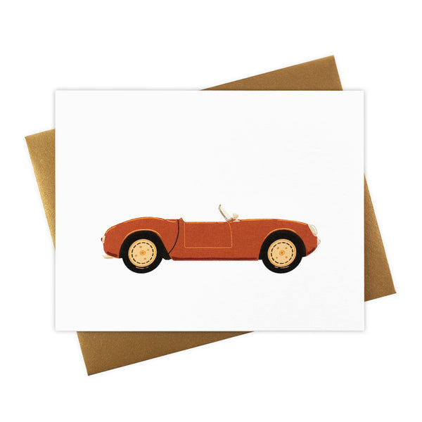 Prudence - Classic Convertible in Persimmon - Blank Card