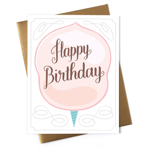 Happy Birthday - Cotton Candy Card