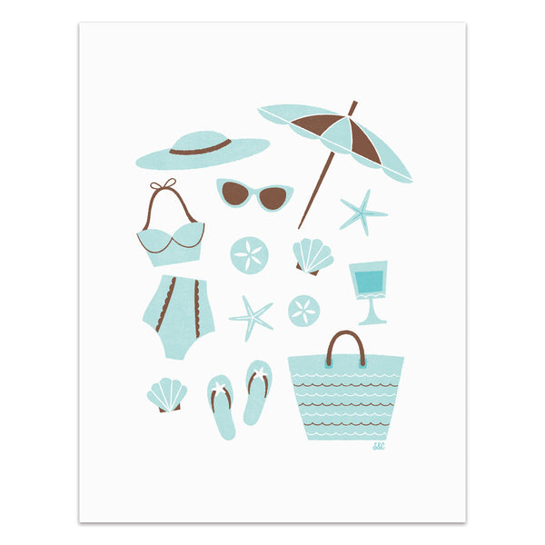 Beachy Retro - Art Print