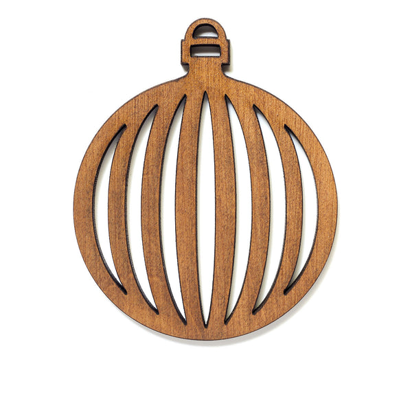 Retro Round Bauble Single Ornament