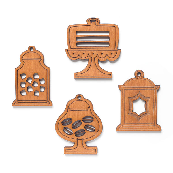 Sweetest Wood Ornaments Set