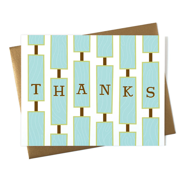 Thanks Wall Art Card