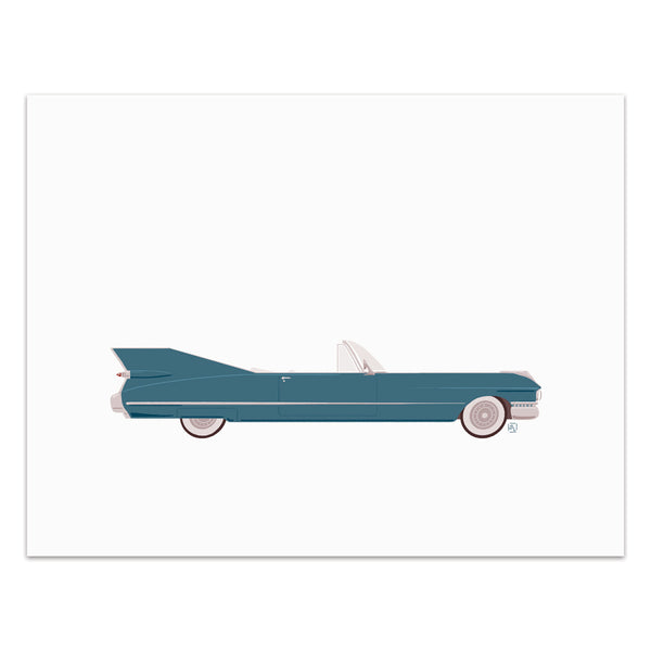 Bettina - Classic Convertible in Steel Blue  - Art Print