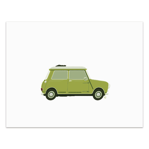Lucy - Classic Convertible in Lime  - Art Print
