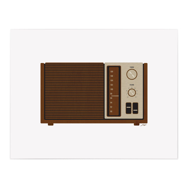Radio Wood Grain Art Giclee Print