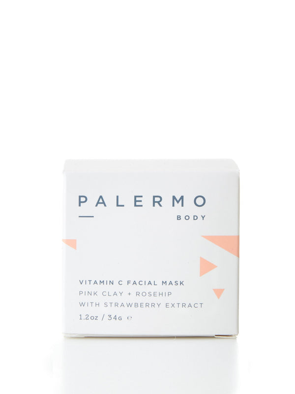Vitamin C Facial Mask - Pink Clay + Rosehip with Strawberry Extract by Palermo Body
