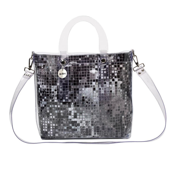 Large Bag BLACK/SILVER TILE - Kollekcio