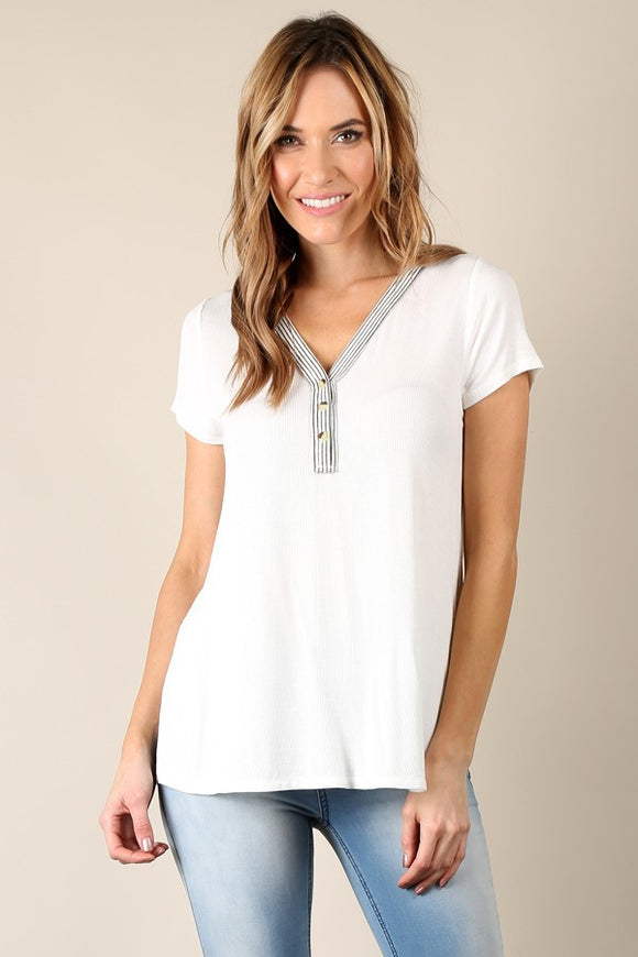 WHITE SOLID WAIST LENGTH SHIRT