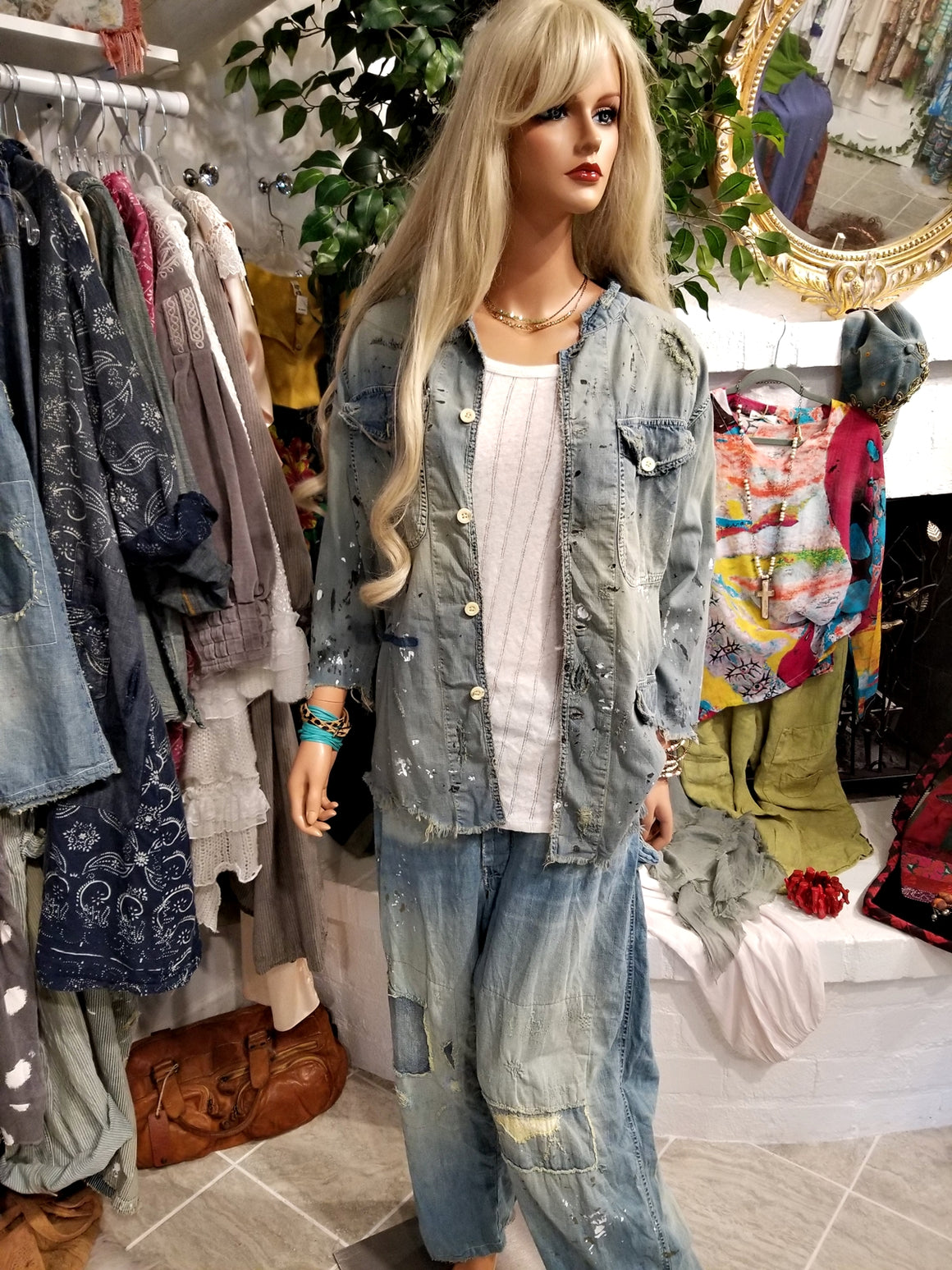 Cotton Denim Love Militia Coat by Magnolia Pearl