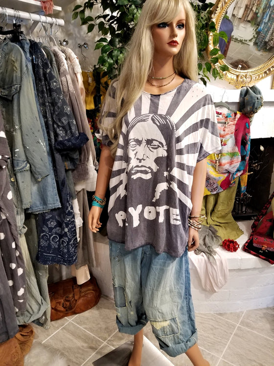 Cotton Jersey Peyote Tee by Magnolia Pearl