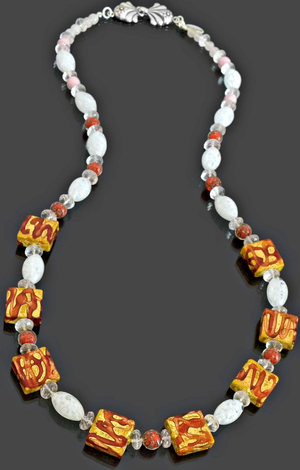 Gemma Collection - Artisan Beaded Necklace 12 - Kollekcio  - 1