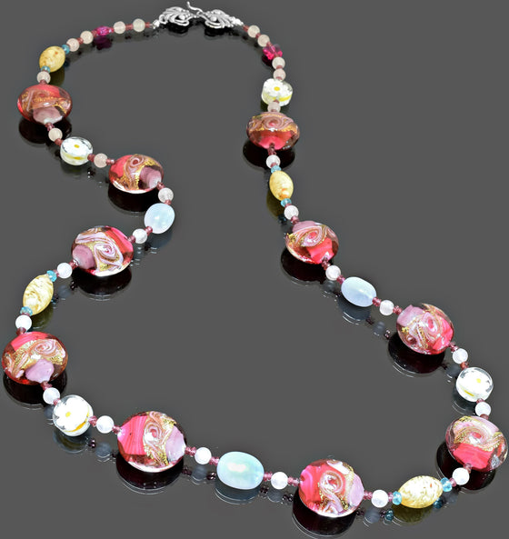 Gemma Collection - Artisan Beaded Necklace 19 - Kollekcio  - 1