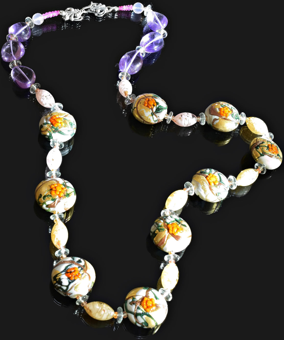 Gemma Collection - Artisan Beaded Necklace 25 - Kollekcio  - 1