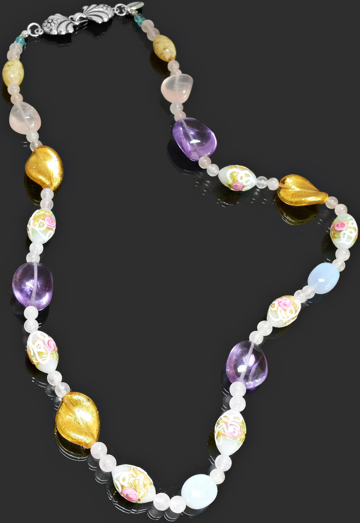Gemma Collection - Artisan Beaded Necklace 34 - Kollekcio  - 1