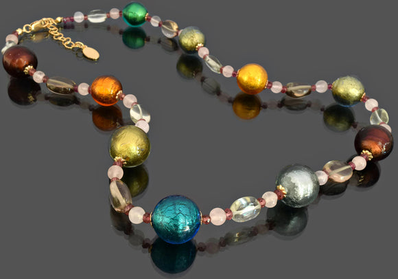 Gemma Collection - Artisan Beaded Necklace 41 - Kollekcio