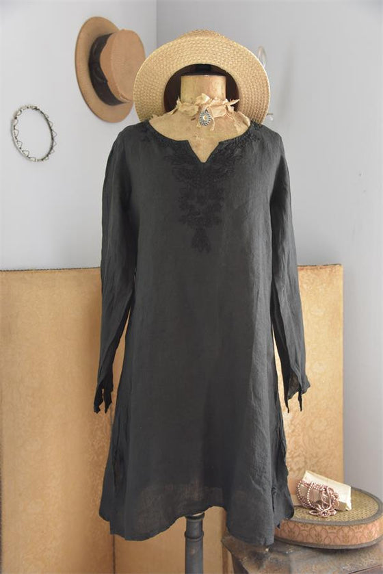 NATURAL AND PURE BLACK TUNIC