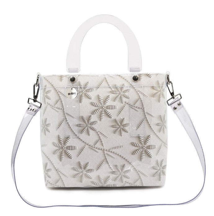 Large Bag BEIGE/WHITE FLOWER - Kollekcio
