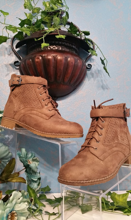 Taupe Women's Booties