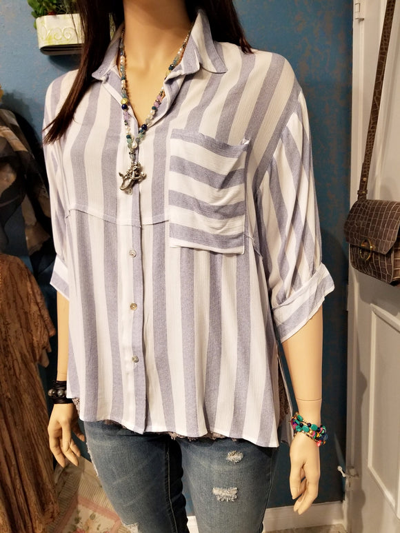 Striped Plus Size Top
