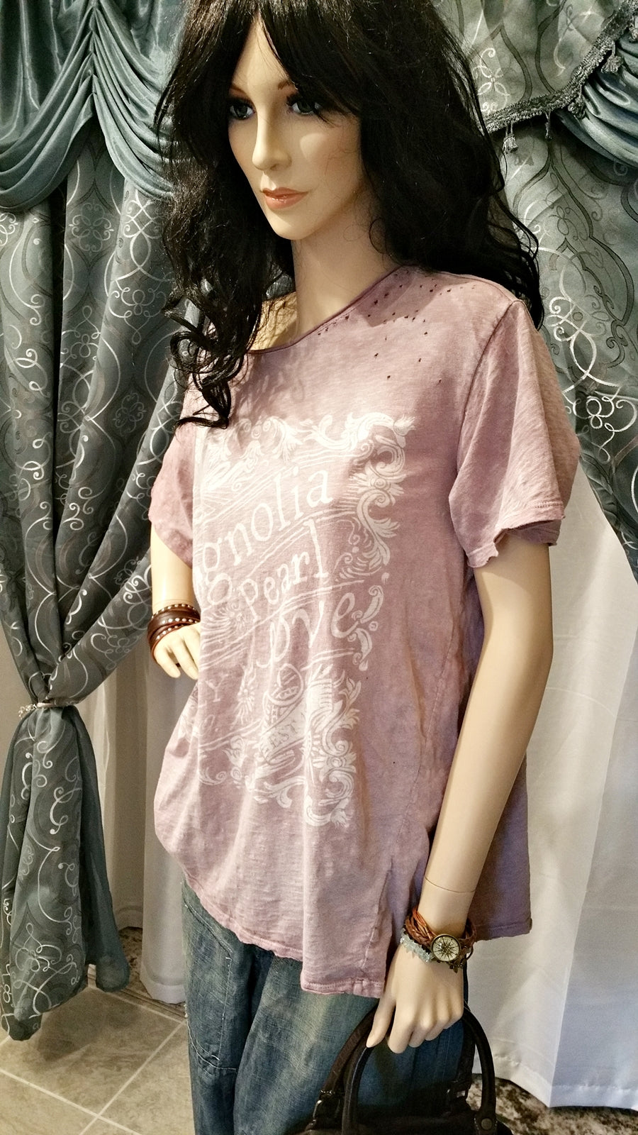 Cotton Plum Love T-Shirt by Magnolia Pearl