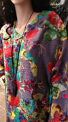 Vintage Art Multi-Color Lagenlook Boho Top