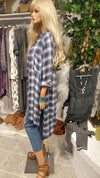 Plus Size Long Plaid Shirt Dress