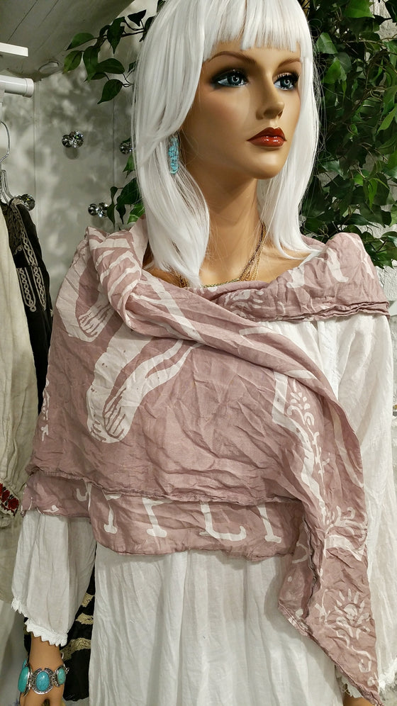 Happiness Pink Cotton Scarf by Magnolia Pearl