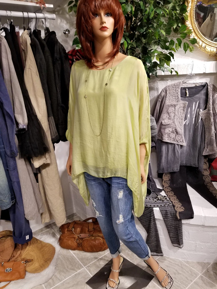 Italian Silk Top - Green
