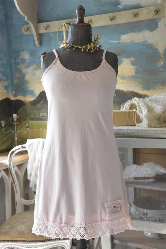 TRUE TIMES TANK DRESS - POWDER ROSE