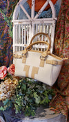 Tuchic Genuine Leather Handbag Beige/Tan - Made in Italy