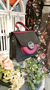 TUCHIC SMALL BAG GARDENA LIPARI BLACK/BURGUNDY