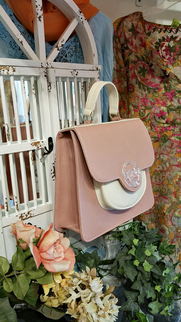 TUCHIC SMALL GARDENA BAG PINK/BEIGE LEATHER