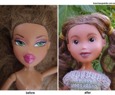 TREE CHANGE DOLLS STRIPS THE MAKEUP OFF BRATZ