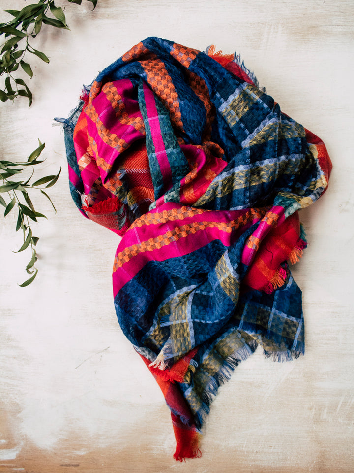 Hand Woven Winter Brights Scarf