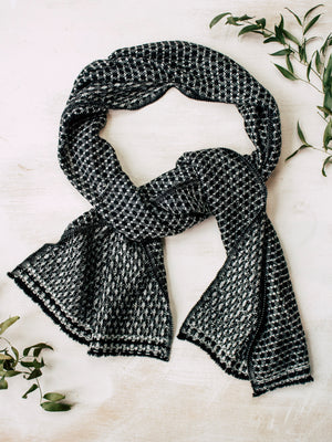 Boxed Black Cashmere Scarf