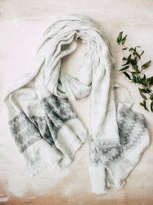 Cashmere Tweed Wrap