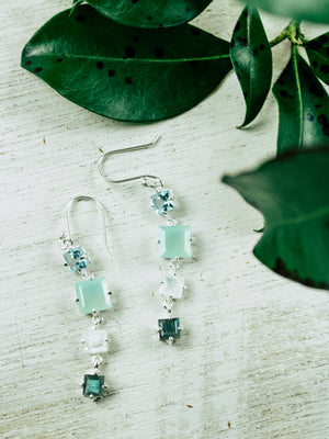 Square Cascades Earrings