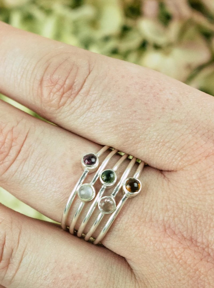 Mixed Tourmaline Ring Set
