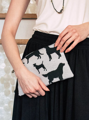 Dog Silhouette Cosmetic Pouch