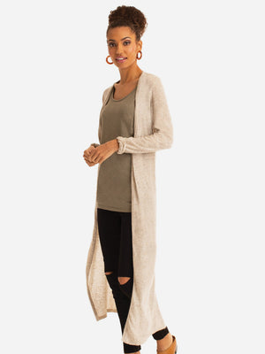 Eco Luxe Relaxed Long Cardigan
