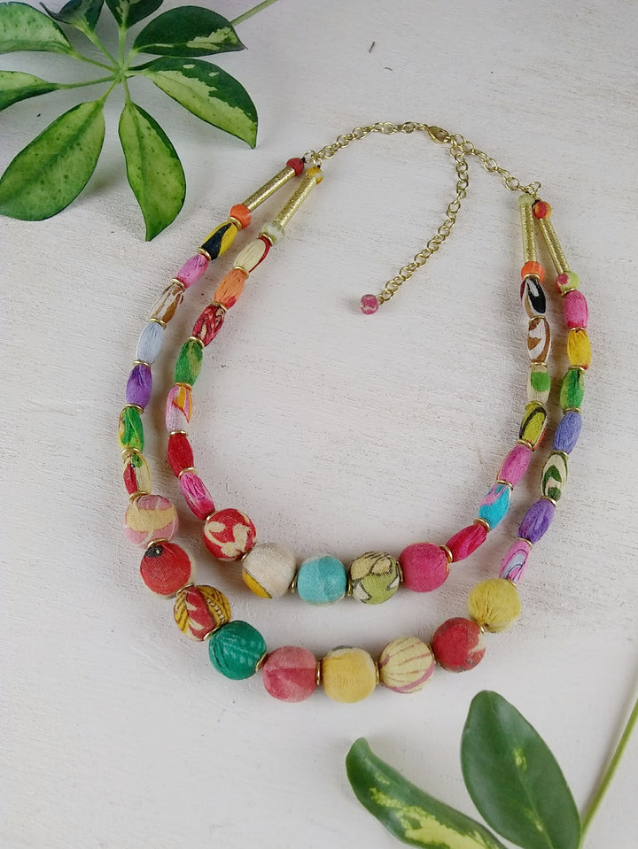 Layered Kantha Necklace