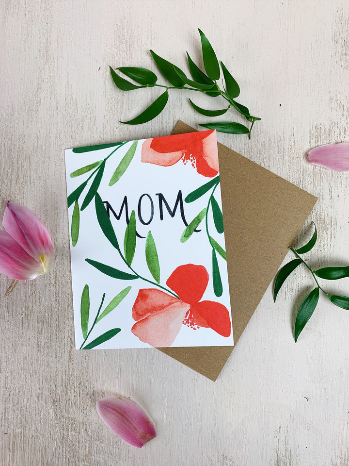 Mom Poppy Card