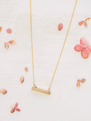 Druzy Mini Bar Necklace