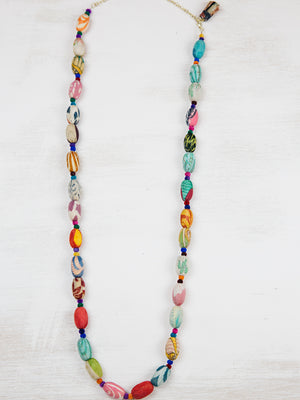 Kantha Kaleidoscope Necklace