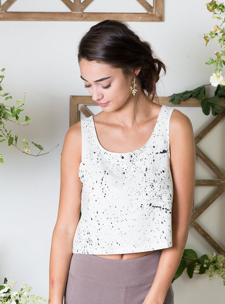Raw Silk Speckle Crop Top