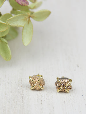 Aiyana Druzy Prong Earrings